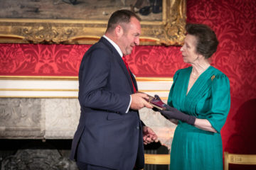 Nick Taplin, Chairman and CEO recieving the award from HRH The Princess Royal