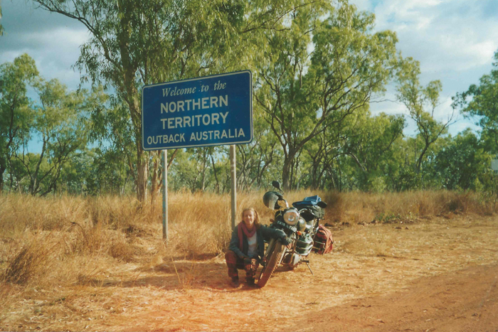 Entering a new state along the Roper Highway, Northern Territory, Australia (The travels of Jacqui Furneaux)